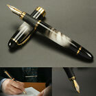 Fountain Pen Jinhao X450 Black with Fireworks 0.7mm Broad Nib 18KGP Golden Trim