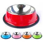 Stainless Steel Dog Feeder Bowl with Rubber Base for Small Medium Large Dogs