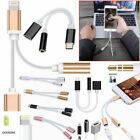 2 IN 1 AUX 3.5MM AUDIO HEADPHONE CHARGER CABLE SPLITTER iPhone 5 6 7 8 iphone X