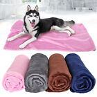 Fleece Dog Blanket Large Pet Cats Dog Bed Mat Bath Towel Washable 100cm x 70cm