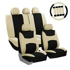 Car Seat Covers Light & Breezy Flat Cloth Seat Covers Combo Set Universal Fit
