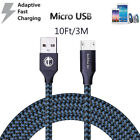 3/6/10Ft Micro USB 3.0 Fast Charger Data Sync Cable Cord For Samsung LG  Android
