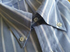 NWOT Brooks Brothers Blue with White Stripe Oxford Button Down Regent MSRP $140