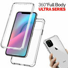 360 CLEAR Silicone Front Back Hard Shockproof For Apple 11Pro Max XR 12 7 8+ SE2
