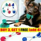 Pet Molar Bite Toy Dog Rope Ball Chew Toys Pet Tooth Cleaning Suction Cup UK C2