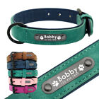 Personalised Dog Collar for Small Medium Large Dogs Soft Velvet Leather Padded