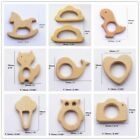 Wood Teether Ring DIY Organic Eco-friendly Baby Shower Wooden Grasping Teething