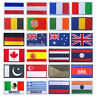 More images of National Nation World Country Emblem Flag Embroidered Sew On Patch Badge NWE