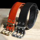 Genuine Leather Dog Collar Heavy Duty Adjustable Pet Large Dog Training Collar