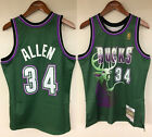 Ray Allen Milwaukee Bucks Mitchell  Ness NBA 1996 1997 Authentic Rookie Jersey