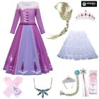 Simile Frozen Elsa 2 Vestito Carnevale Bambina Cosplay Costume Dress FROZ016B