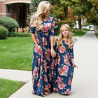 Mother and Daughter Matching Dresses Women Girls Long Maxi Dress Family Clothes