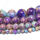 Внешний вид - Galaxy Sea Sediment Jasper Beads Purple Imperial Gemstone 4mm 6mm 8mm 10mm