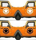 Set of 2 America US U.S Army Distressed Star Vinyl Decal Sticker Dodge $9.85 USD on eBay