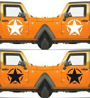 Set of 2 America US U.S Army Distressed Star Vinyl Decal Sticker Dodge $10.75 USD on eBay