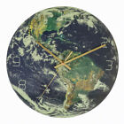 3D Luminous Earth Continents Wall Clock Night Glow Silent Home Wall