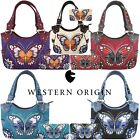 Kyпить Western Style Butterfly Handbag Concealed Carry Purse Women Shoulder Bag Wallet на еВаy.соm