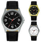 40mm Milano Expressions Men's Analog Watch Vegan Leather Band Dress Fashion