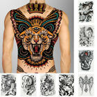 HN- CO_ Black Men Women Waterproof Body Art Full Back Temporary Tattoo Stickers $3.72 USD on eBay