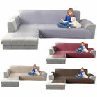 L-Shaped Sofa Cover Left Polyester Stretch Fabric Sectional Sofa Slipcovers