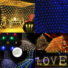 LED Net Mesh Fairy String Light Garland Window Curtain Xmas Party Decor 8 modes