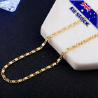Genuine 18k Gold Plated 2mm Heshe Chain Necklace Jewelry