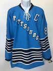 Sidney Crosby 1967 Inaugural Throwback NHL Pittsburgh Penguins Jersey Blue