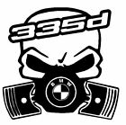 calavera bmw serie 3 335d etc tuning sticker auto fun pegatinas racing