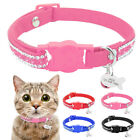 Breakaway Pet Cat Personalized Collars Bling Rhinestone Necklace ID Tag Engraved