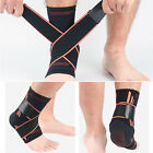 Copper Ankle Support Compression Plantar Fasciitis Sleeve Sports Foot Wrap Brace