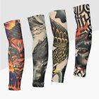 2pcs Cycling Sports Tattoo UV Block Cool Arm Sleeves Cover Sun Protection Warmer