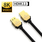 8K HDMI 2.1 UHD Cable HDTV 3D 2160P HDR 120Hz 48Gbps Dolby HDCP 2.2 RGB 4:4:4