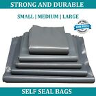 Strong grey plastic MAILING BAGS poly postage post postal self seal - all sizes