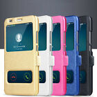 FT- CO_ HK- for Huawei P8 P9 P10 Lite Slim Flip PU Leather Stand Windows Case Co