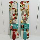 Pioneer Woman Red or Teal Flat Whisk - your choice- stainless steel stir & press