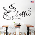 Coffee Cup Kitchen Wall Art Sticker Kitchen Home Decor Coffee Decal Stickers Hea