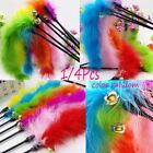 Fun  Pet Supplies Cat Kitten Toys Stick Toy Teaser Feather Wire Chaser Wand