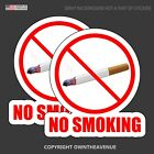 No Smoking Store Shop Mall Retail Business Vinyl Sticker Decal 2 Pack