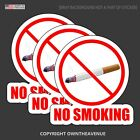 No Smoking Store Shop Mall Retail Business Vinyl Sticker Decal 3 Pack