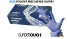 Disposable Gloves Nitrile Powder Free Latex Free Examination Blue supertouch