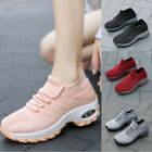 Womens Mesh Breathable Fashion Air Cushion Sneakers Athletic Lace Up Sport 35-42