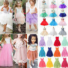 Baby Kids Girls Tulle Dress Princess Toddler Party Wedding Lace Prom Sundress US