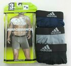Adidas Men's Boxer Briefs 3 Pack L Black Blue Grey Athletic Fit Performance New