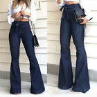 Women Stretchy Skinny Jeggings Flares Jeans Slim Fit Denim Pants Trousers