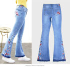 Women Stretchy Skinny Jeggings Embroidery Jeans Slim Fit Denim Pants Trousers