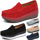 Womens Platform Flat Bow Flatform Ladies Loafers Pumps Slip On Casual Shoes Size