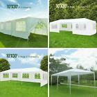 10'x30' Outdoor Canopy 5/7/8 SideWalls Party Wedding Tent White Gazebo Pavilion