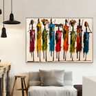 Abstract African Woman Oil Painting on Canvas Posters and Prints Wall Art, used for sale  Shipping to Nigeria