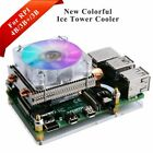 Raspberry Pi 4B/3B /3B Low-Profile Ice Tower Cooling Fan Metal Case with Bracket