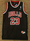 MICHAEL JORDAN 23 Chicago Bulls PINSTRIPE Black Men's Swingman Jersey on eBay